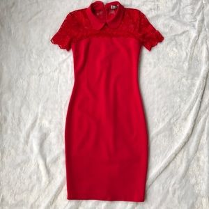 ASOS Red Tight Lace Dress
